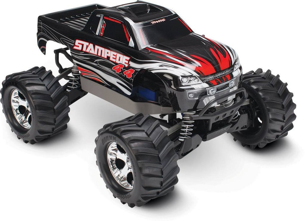 67054-1 Stampede 4x4 Brushed  BLACK