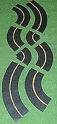 Leisuretime #406-403 O gauge- Mini-Roadway Curves, 6', Assorted