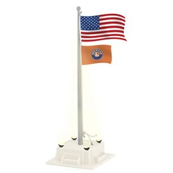O Flagpole w/Lights