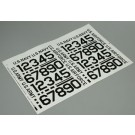 403PB Pressure Decal Numbers Black 2""