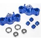 T3731BLUE Evolution 3 Steering Block 2+4 Caps T-Maxx3.3