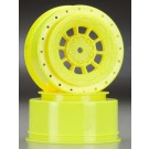 3344Y Hazard 12mm SC10/4x4 Hex Wheel Yellow (2)