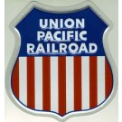 "Metal Sign - 8"" - Union Pacific -- Stock# 10002"