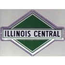"Metal Sign - 8"" - Illinois Central -- Stock# 10015"