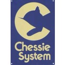Chessie System - Cat Image, Blue background with Yellow Lettering. -- Stock# 10036