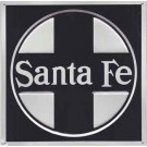 "Metal Sign - 8"" - Santa Fe (Early) -- Stock# 10003"