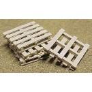 Plastic Pallets (8) -- O Scale Model Railroad Building Accessory -- #95018