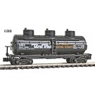 "N Scale ""GATX"" 3-DOME TANK Car Model Power NEW 83417"