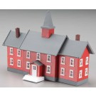 Model Power 2619 N Little Red School House Built-Up Buildings w/2 Figures