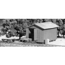 Handcar Shed & Milk Station Kit -- HO Scale Model Railroad Building
