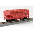 Granite Rock Covered Hopper Ho Freight Cars With Magnetic Knuckle