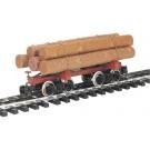 98490 Skeleton Log Car w/Logs G