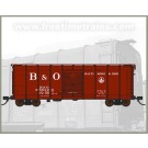 N Scale Fox Valley Models Box Car-B&O Late Billboard #380645