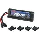 15022 NiMH 7.2V 2/3A 1600mAh TRA 1/16 Univ Plug System