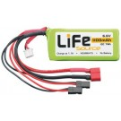 LiFe 6.6V 1100mAh 10C Rx LiFeSource Balance U