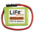 LiFe 6.6V 200mAh 1C Rx LiFeSource U Conn