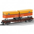 6-81465 SP Flatcar w/Two Piggybacks O