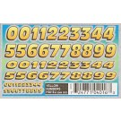 P4016 Yellow Numbers Dry Transfer