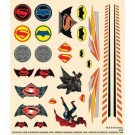 Batman Dawn of Justice Peel/Stick Decal Sheet