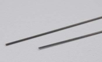 """Carbon Fiber Solid Rod .02x23.6""""(.5x600mm) (2)"""