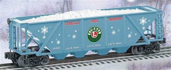6-16480 Lionelville Snow Transport quad hopper w/snow