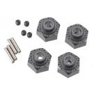 AX30429 Aluminum Hex Hub 12mm Black (4)