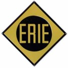 "Metal Sign - 8"" - Erie -- Stock# 10021"