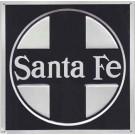 "Metal Sign - 8"" - Santa Fe (Early) -- Stock# 10003"