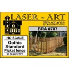 O Gothic Standard Picket Fence