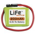 LiFe 6.6V 200mAh 1C Rx LiFeSource U Conn